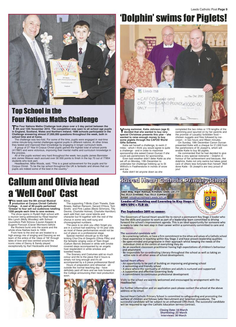 Feb 2011 edition of the Leeds Catholic Post