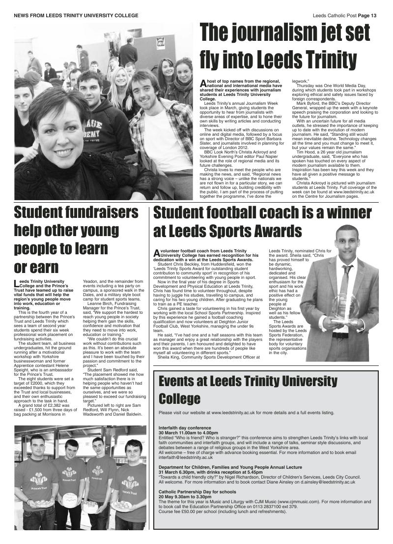 Mar 2011 edition of the Leeds Catholic Post