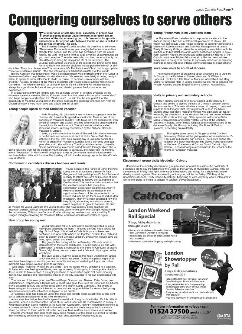 Apr 2011 edition of the Leeds Catholic Post
