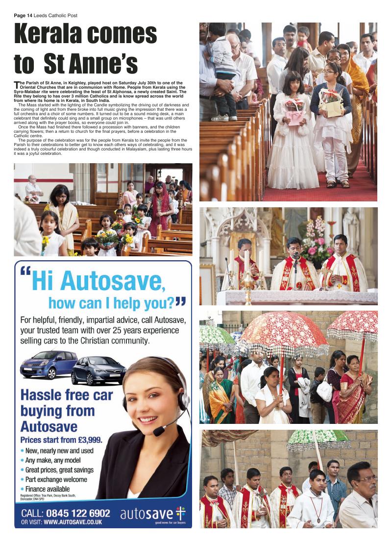 Sept 2011 edition of the Leeds Catholic Post