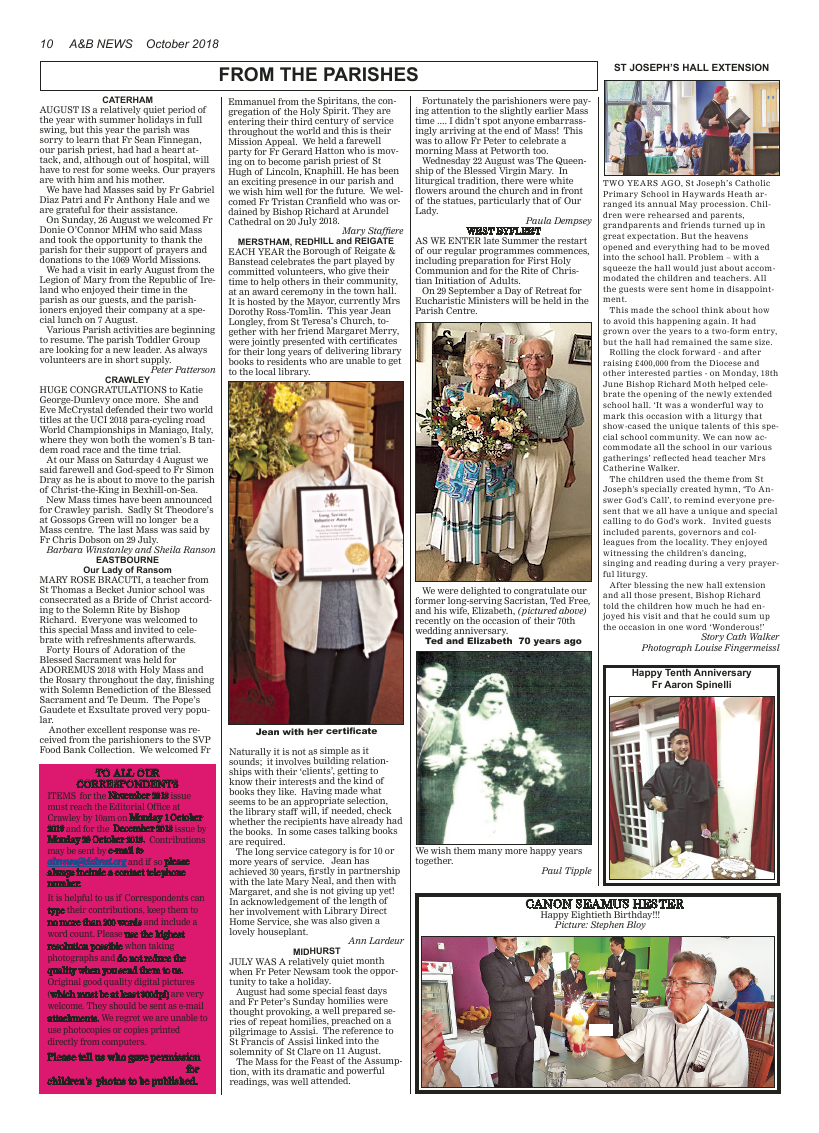 Oct 2018 edition of the A&B News - Page