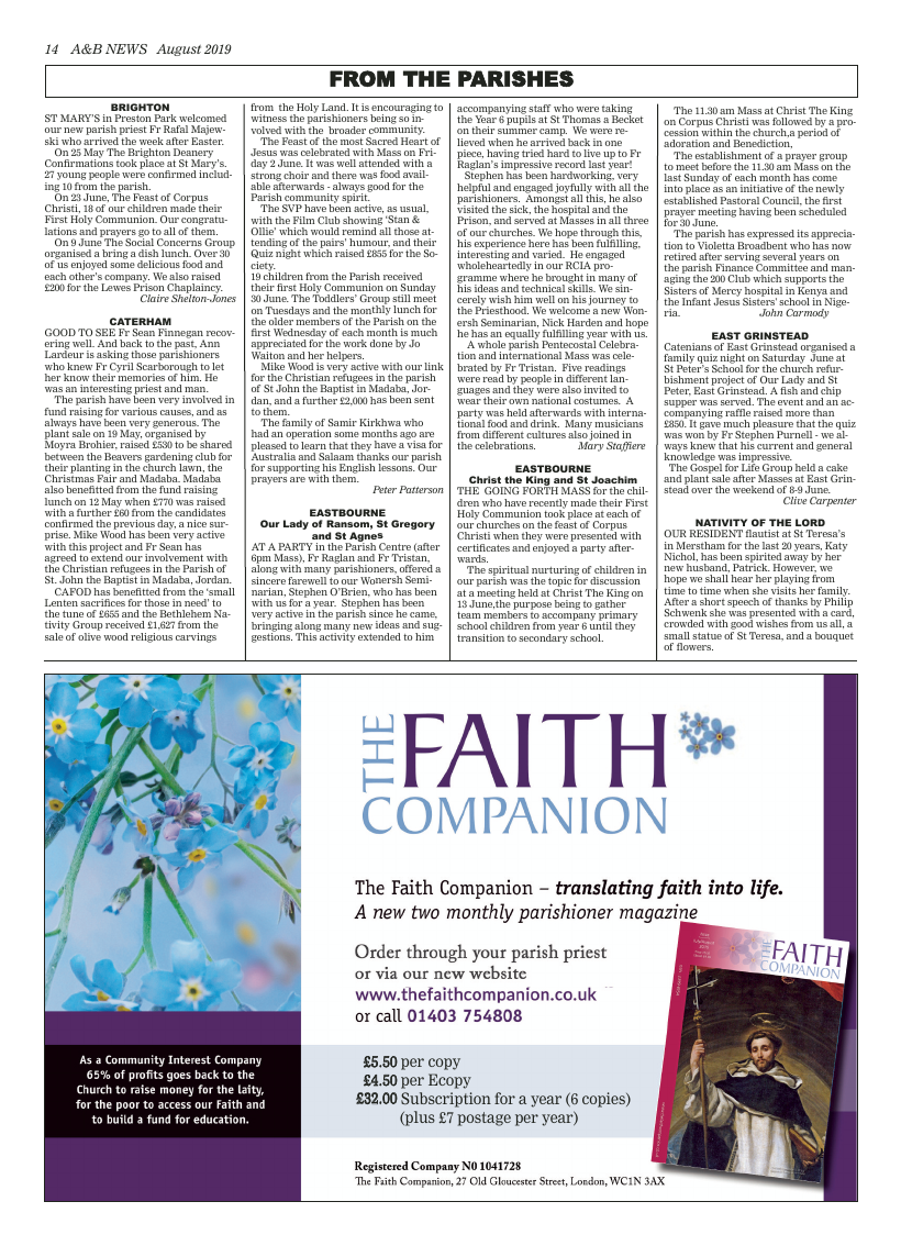 Aug 2019 edition of the A&B News - Page