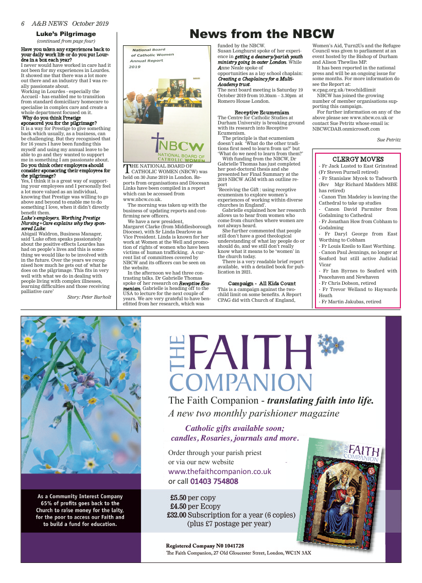 Oct 2019 edition of the A&B News - Page