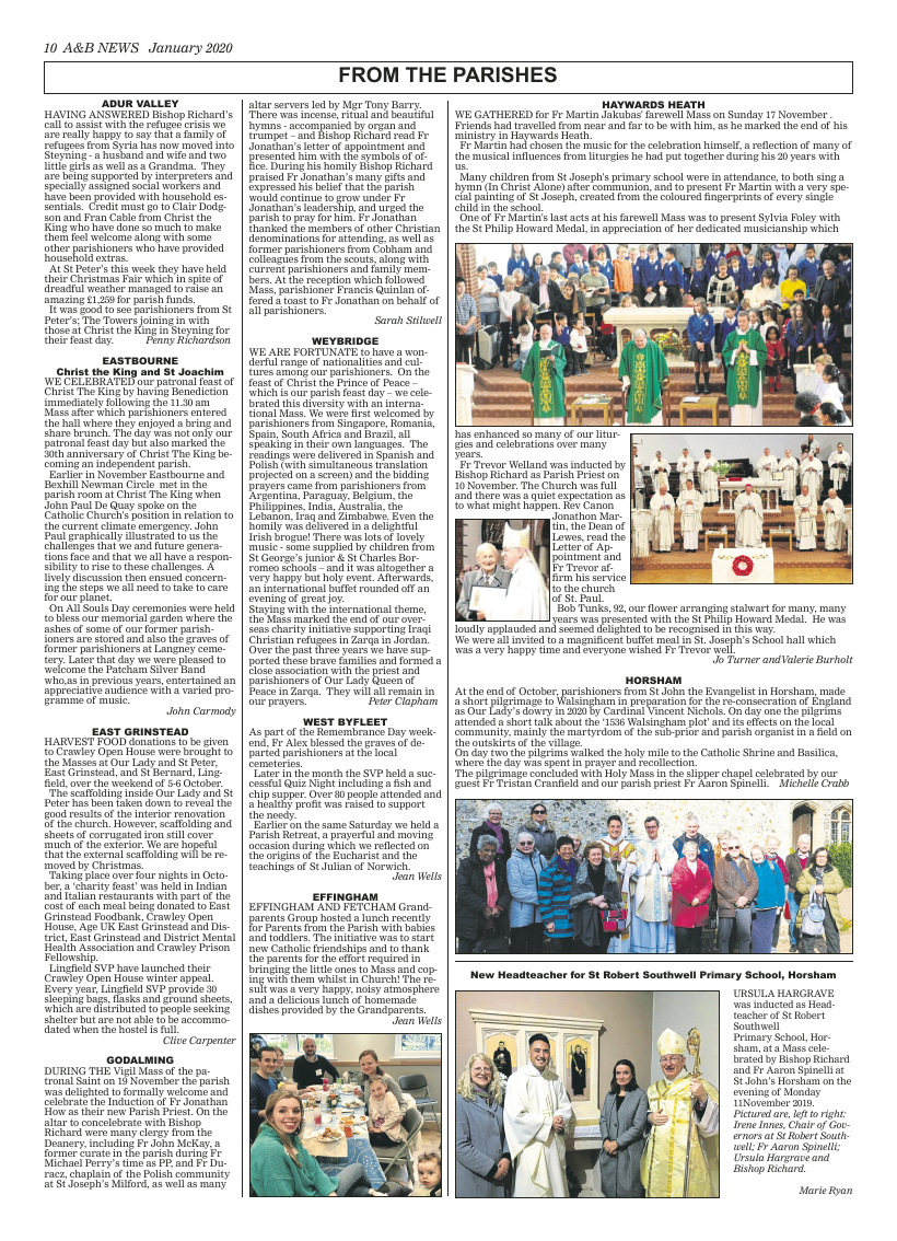 Jan 2020 edition of the A&B News