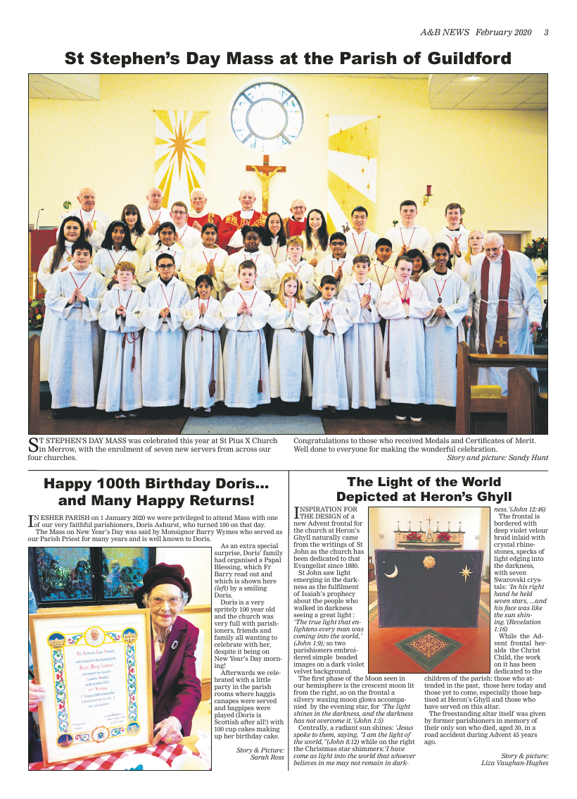 Feb 2020 edition of the A&B News