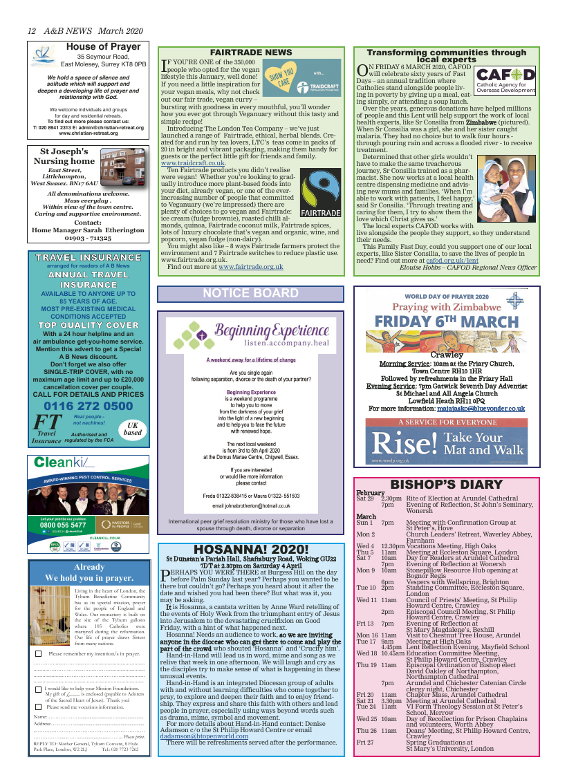 Mar 2020 edition of the A&B News