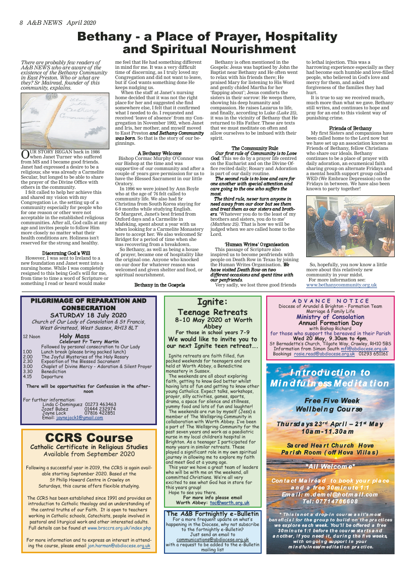 Apr 2020 edition of the A&B News