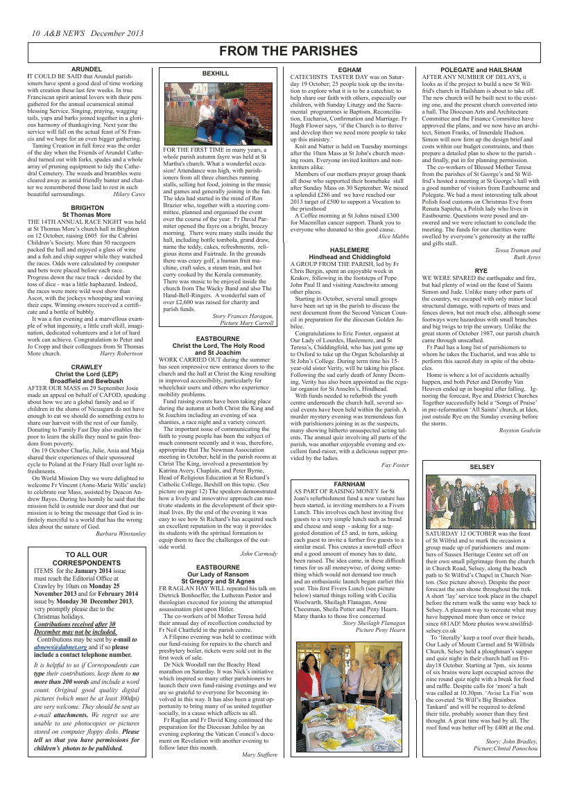 Dec 2013 edition of the A & B News