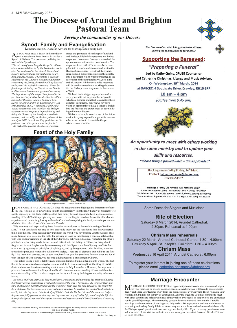 Jan 2014 edition of the A & B News