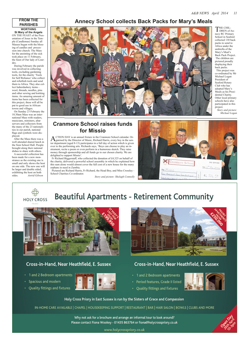Apr 2014 edition of the A & B News