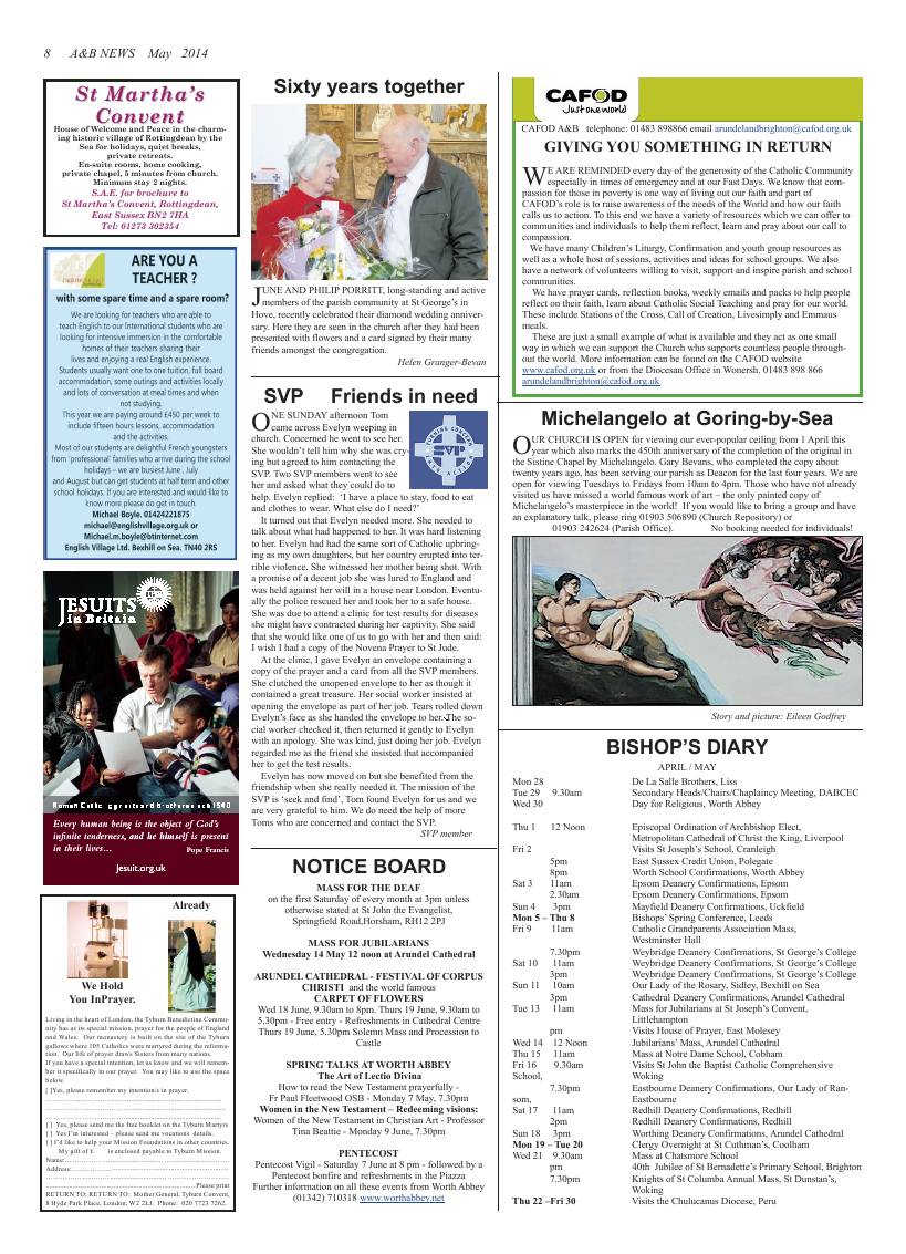 May 2014 edition of the A & B News