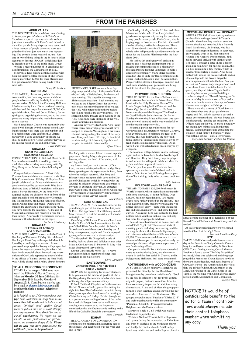 Jul 2014 edition of the A & B News