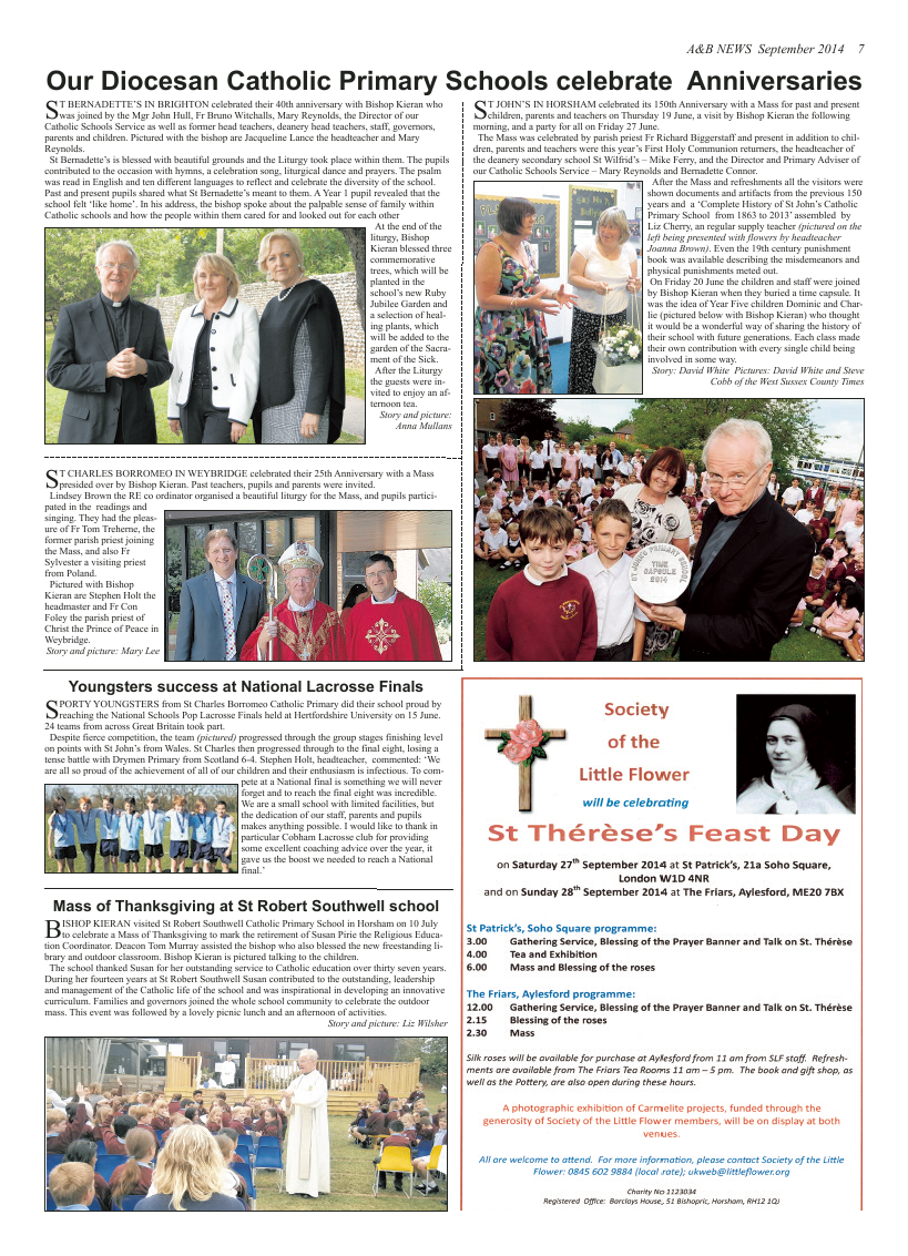 Sept 2014 edition of the A & B News