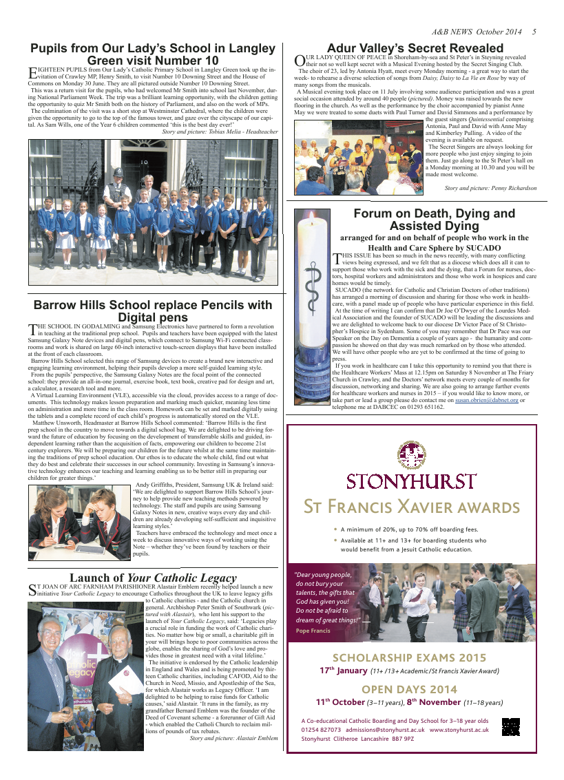 Oct 2014 edition of the A & B News