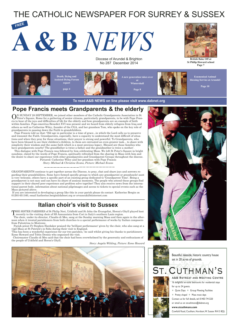 Dec 2014 edition of the A & B News