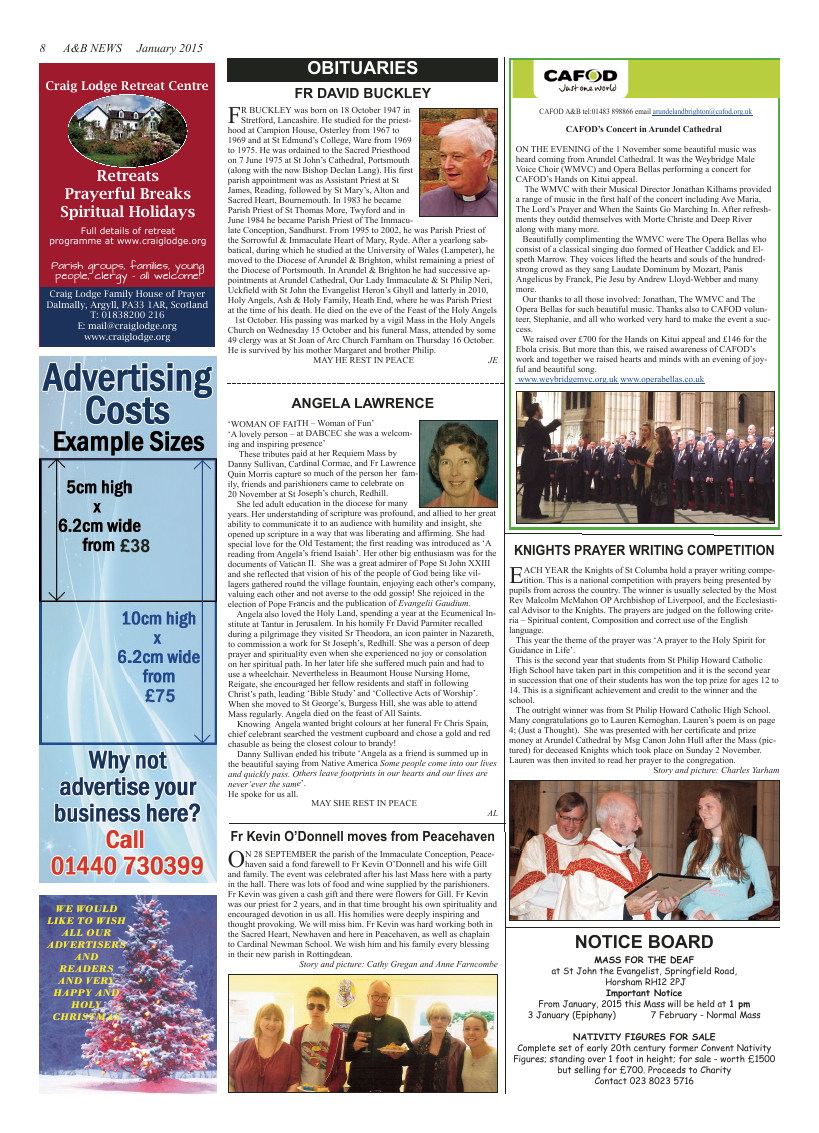 Jan 2015 edition of the A & B News