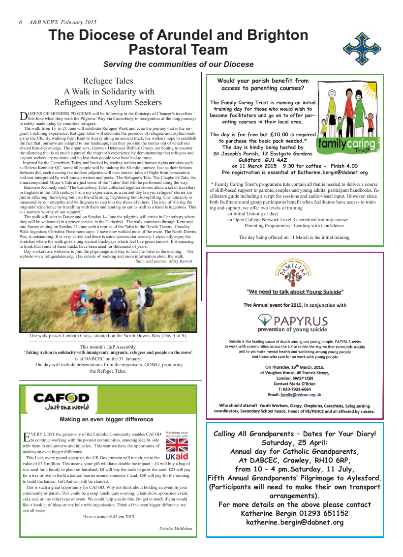Feb 2015 edition of the A & B News