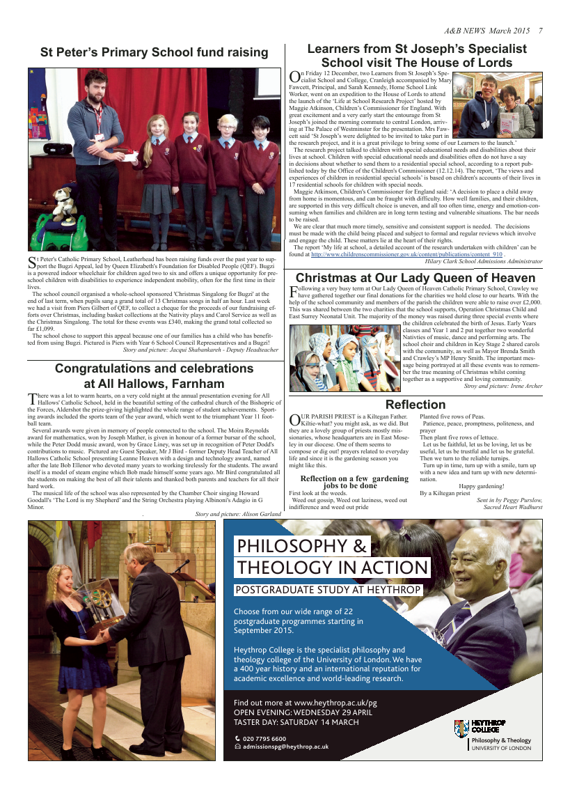 Mar 2015 edition of the A & B News