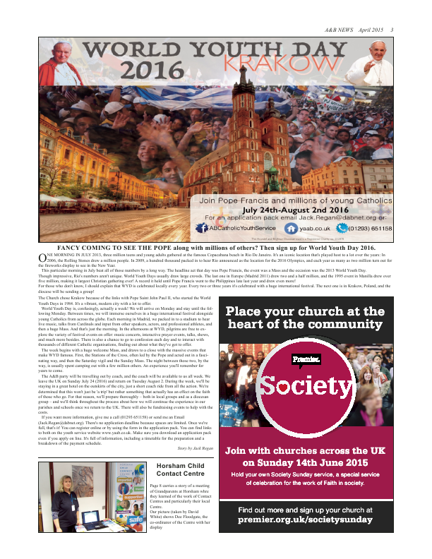 Apr 2015 edition of the A & B News