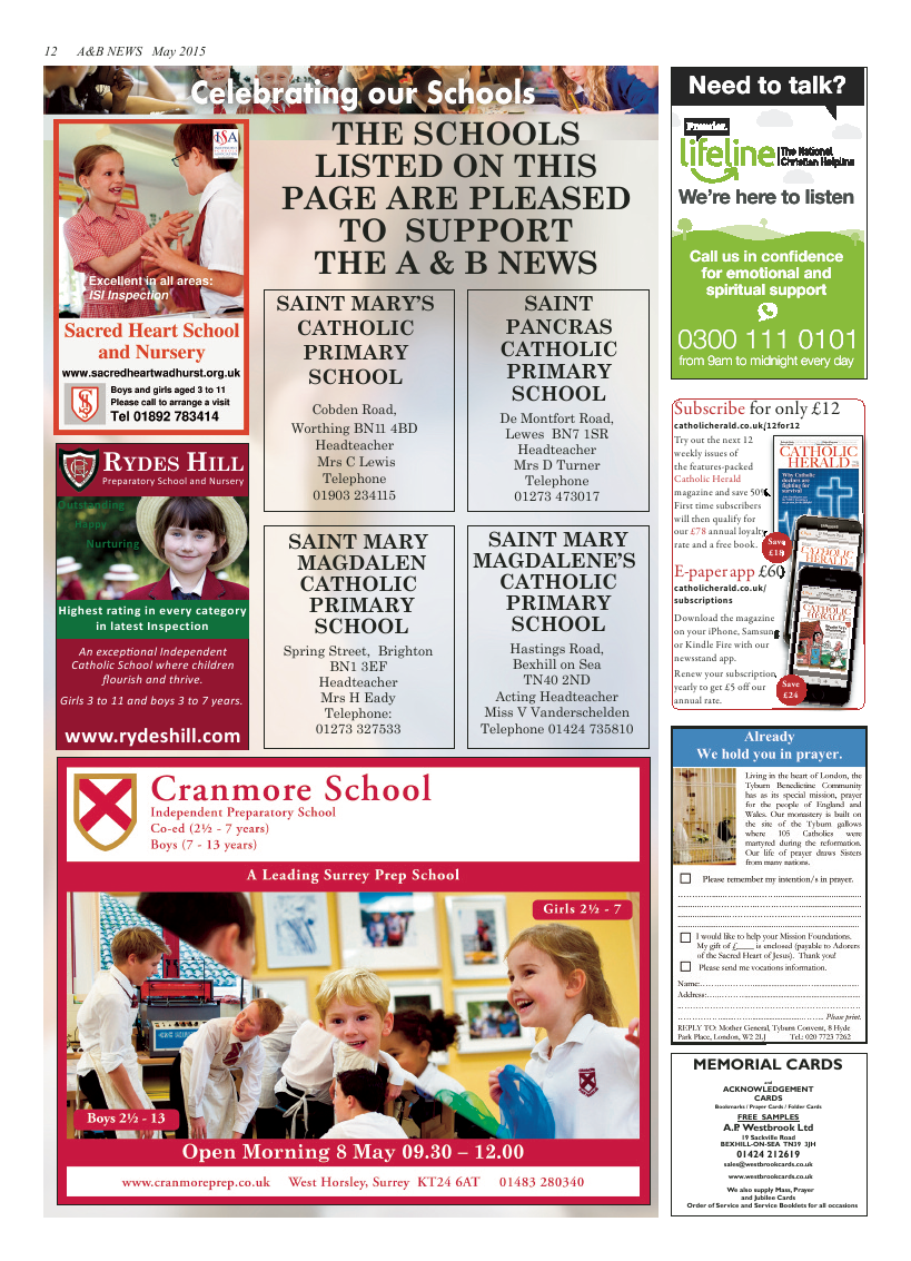 May 2015 edition of the A & B News