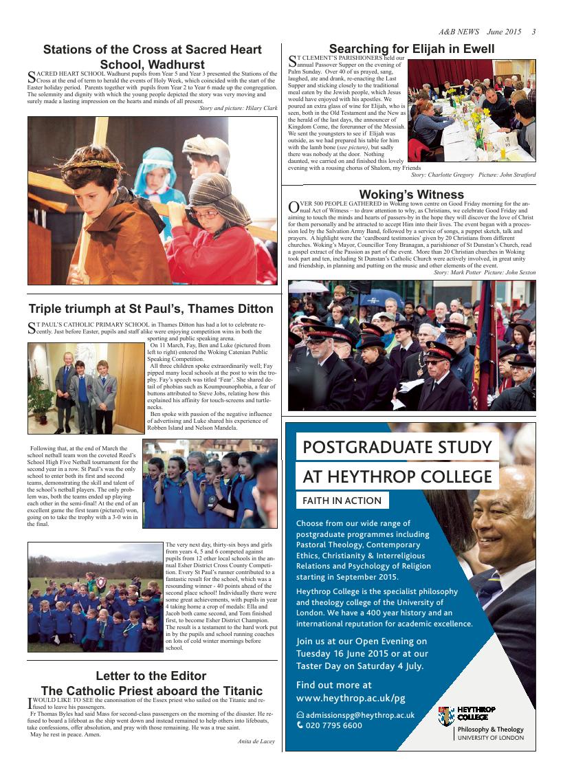 Jun 2015 edition of the A & B News