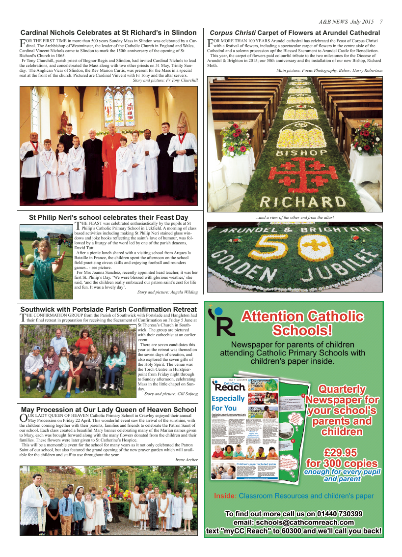 Jul 2015 edition of the A & B News