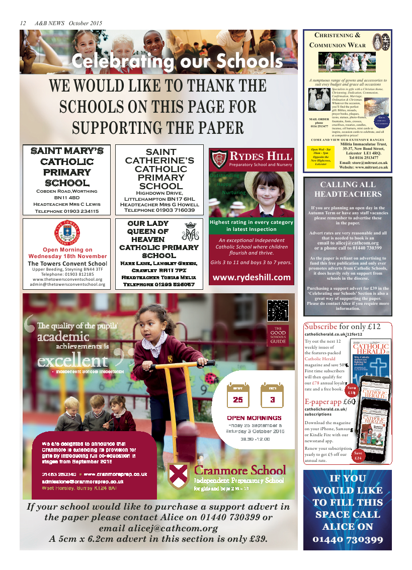 Oct 2015 edition of the A & B News