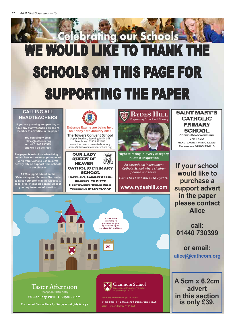 Jan 2016 edition of the A & B News
