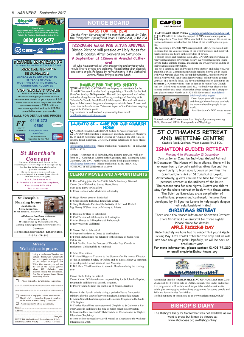 Sept 2017 edition of the A&B News - Page