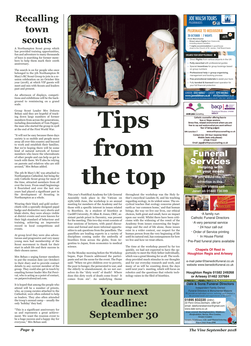 Sept 2018 edition of the The Vine - Northampton - Page
