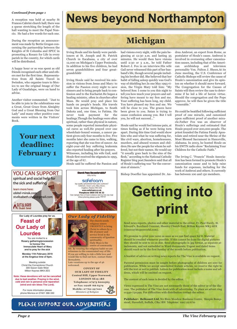 Feb 2019 edition of the The Vine - Northampton - Page