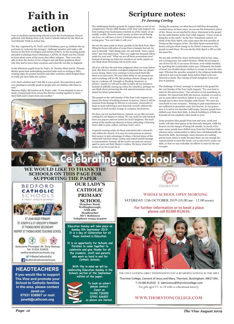 Aug 2019 edition of the The Vine - Northampton - Page