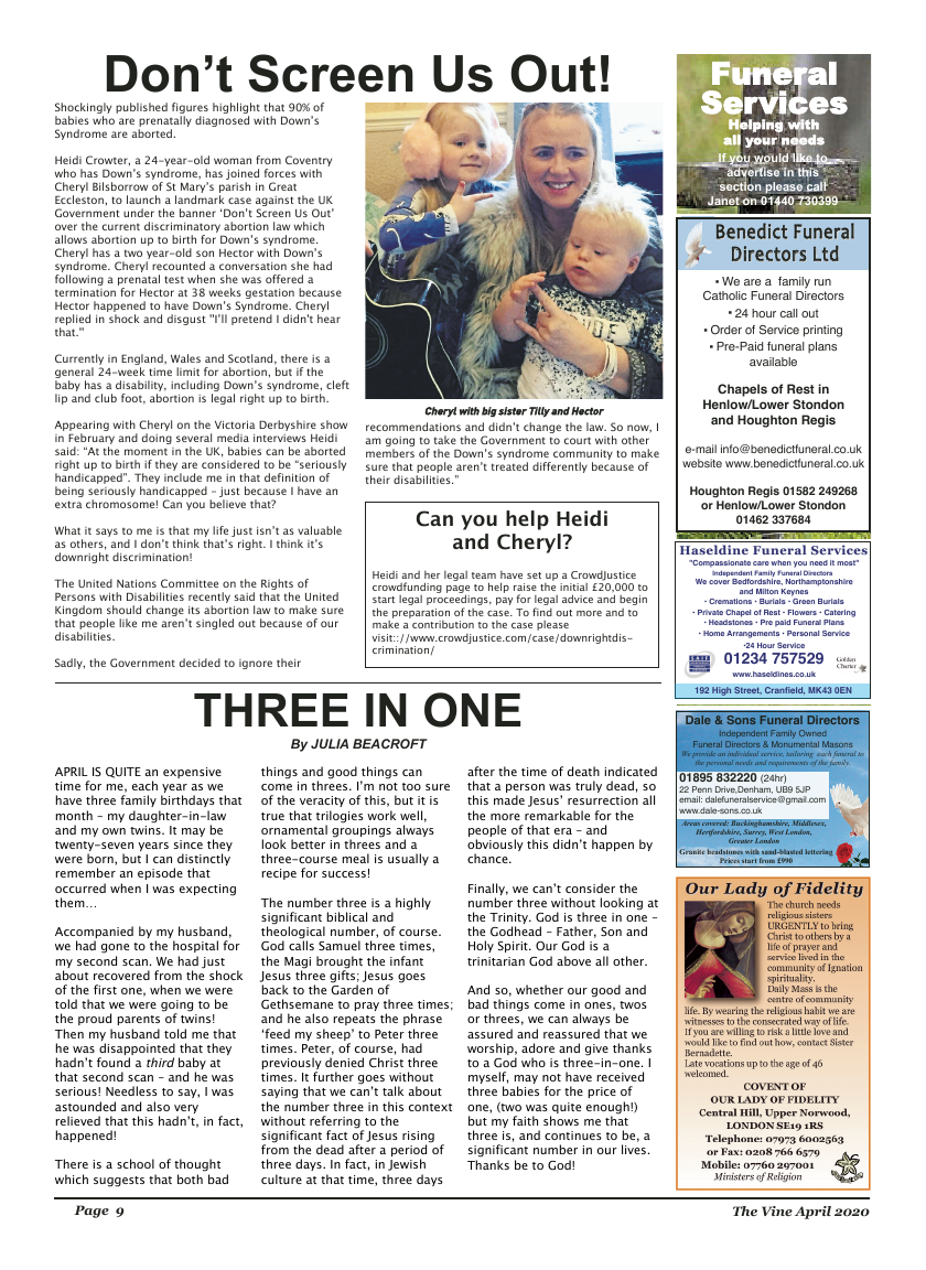 Apr 2020 edition of the The Vine - Northampton