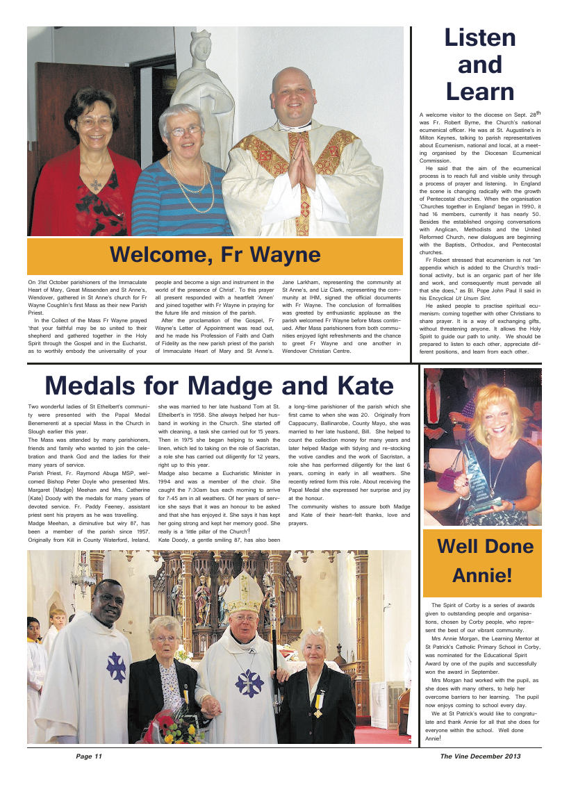 Dec 2013 edition of the The Vine - Northampton