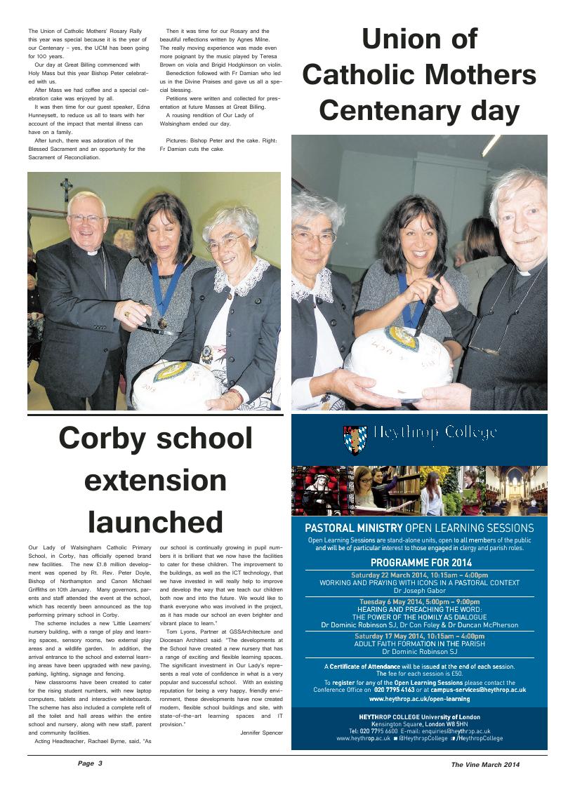 Mar 2014 edition of the The Vine - Northampton