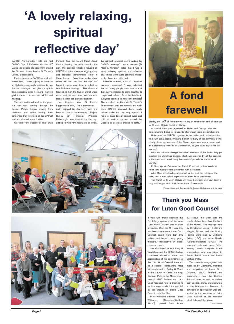 May 2014 edition of the The Vine - Northampton