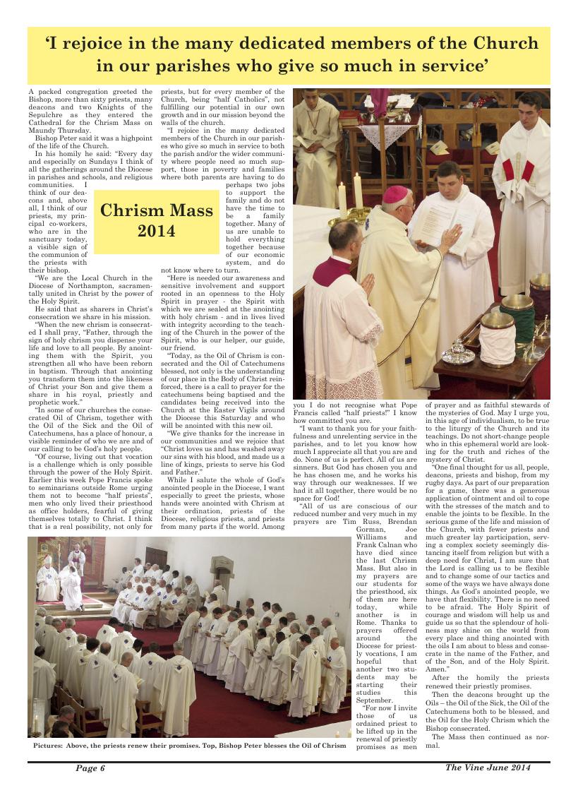 Jun 2014 edition of the The Vine - Northampton