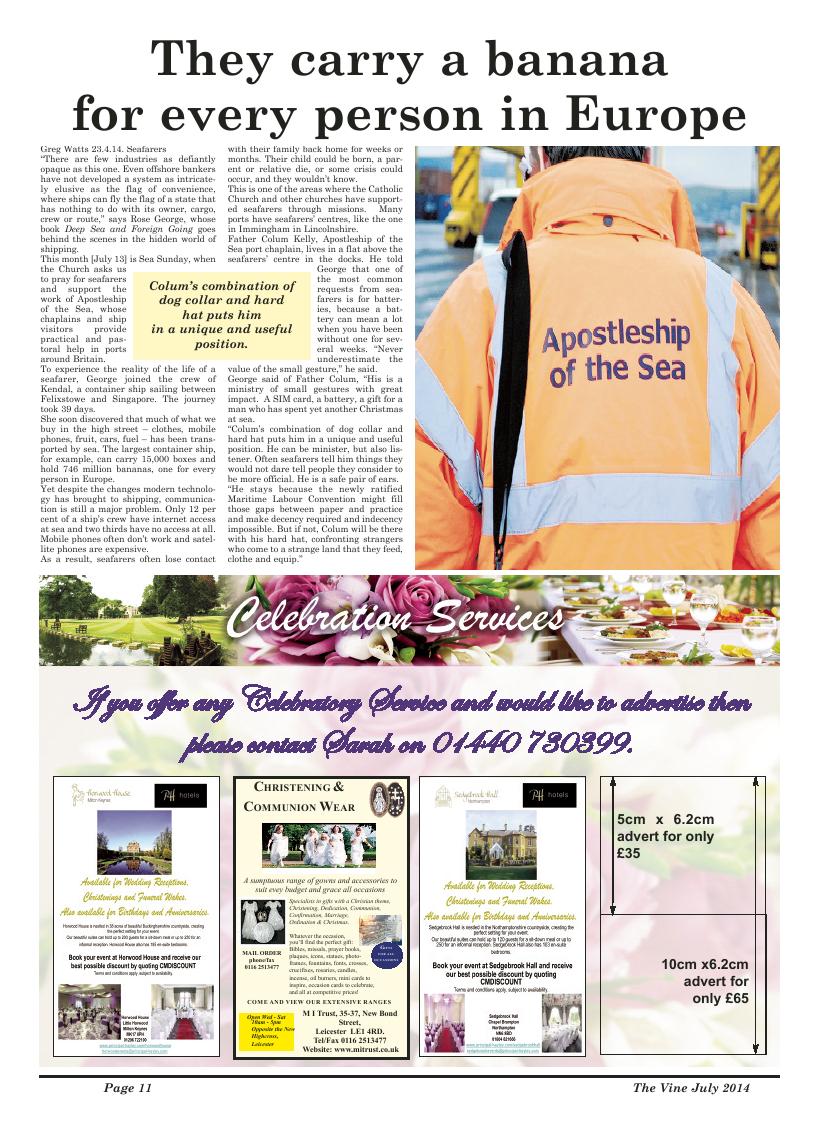 Jul 2014 edition of the The Vine - Northampton