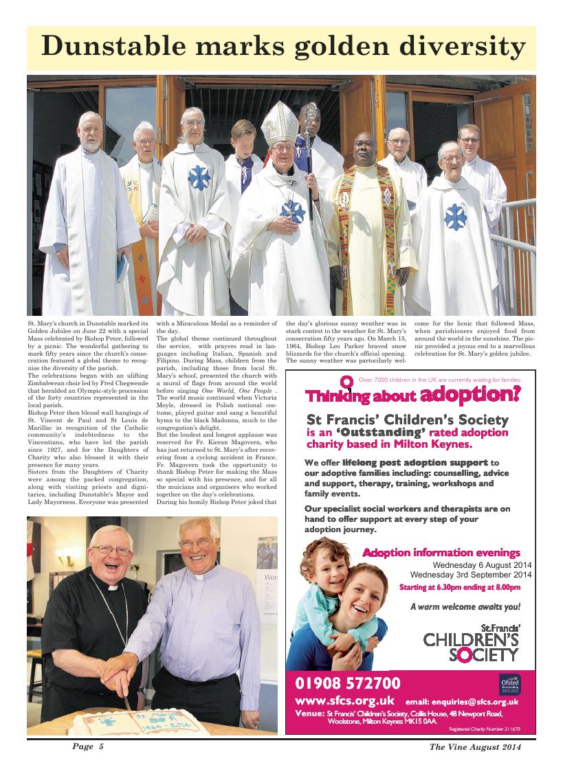 Aug 2014 edition of the The Vine - Northampton