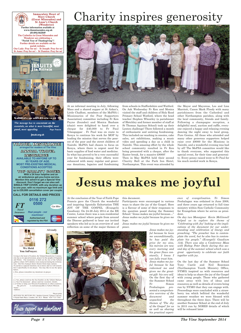 Sept 2014 edition of the The Vine - Northampton