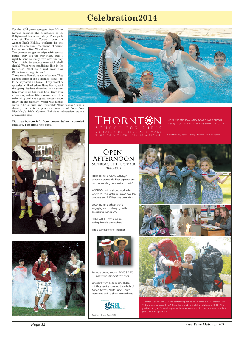 Oct 2014 edition of the The Vine - Northampton