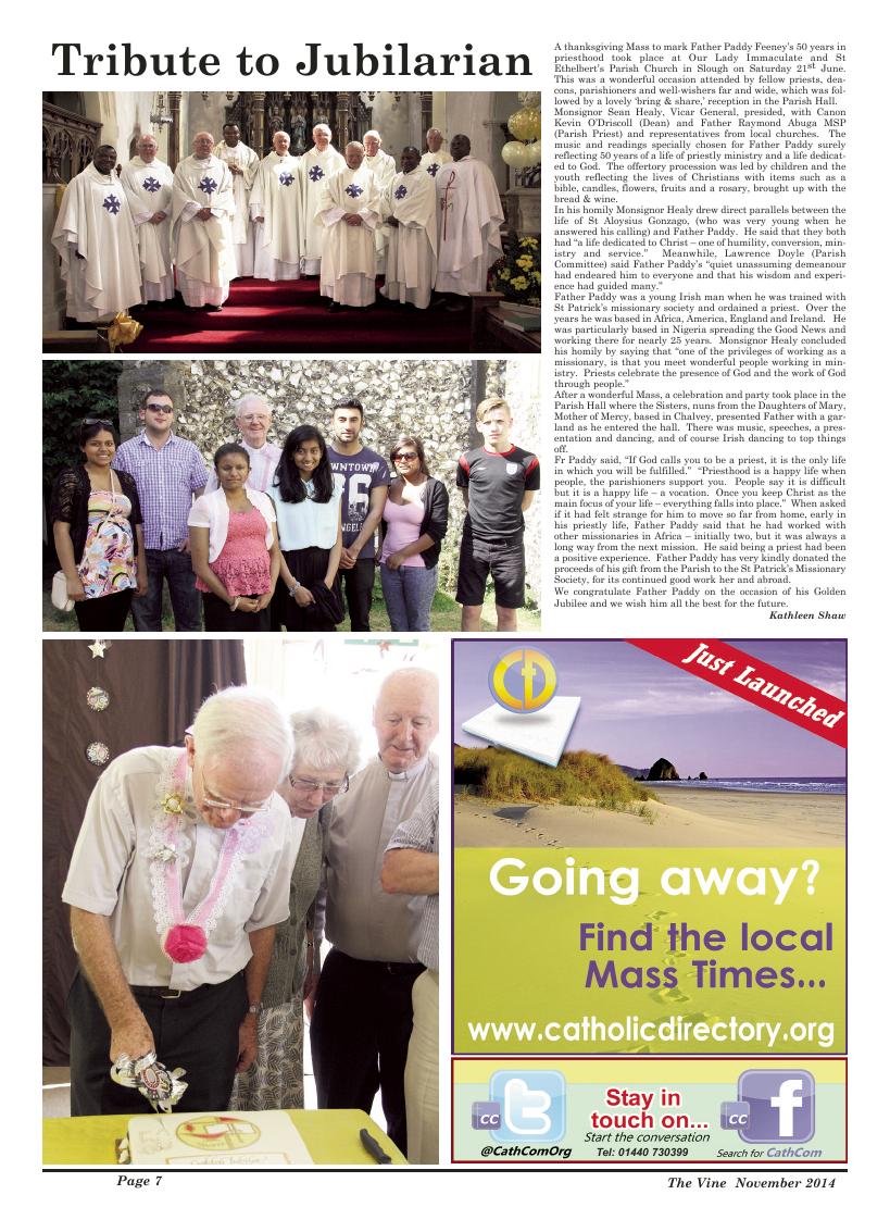 Nov 2014 edition of the The Vine - Northampton
