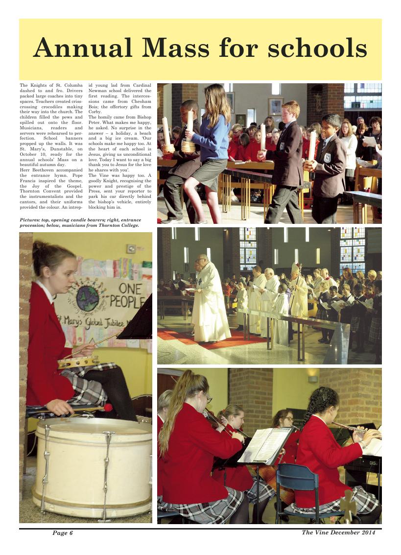 Dec 2014 edition of the The Vine - Northampton