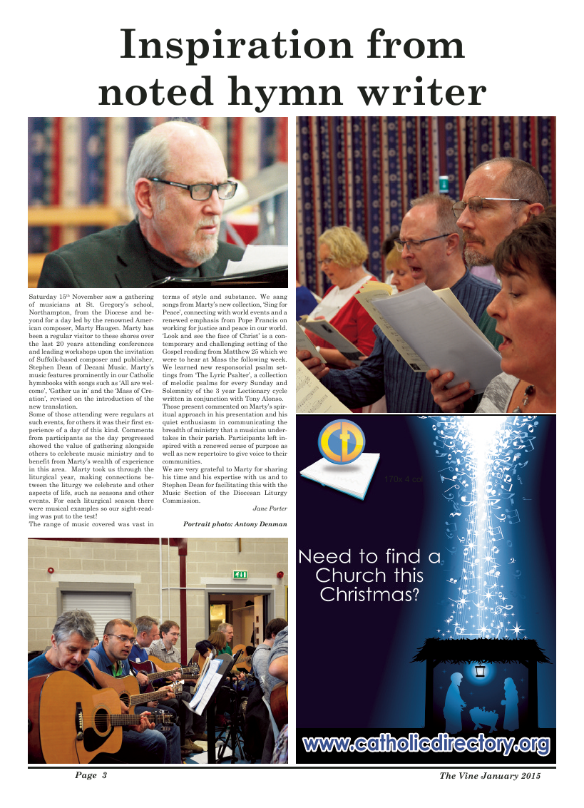 Jan 2015 edition of the The Vine - Northampton