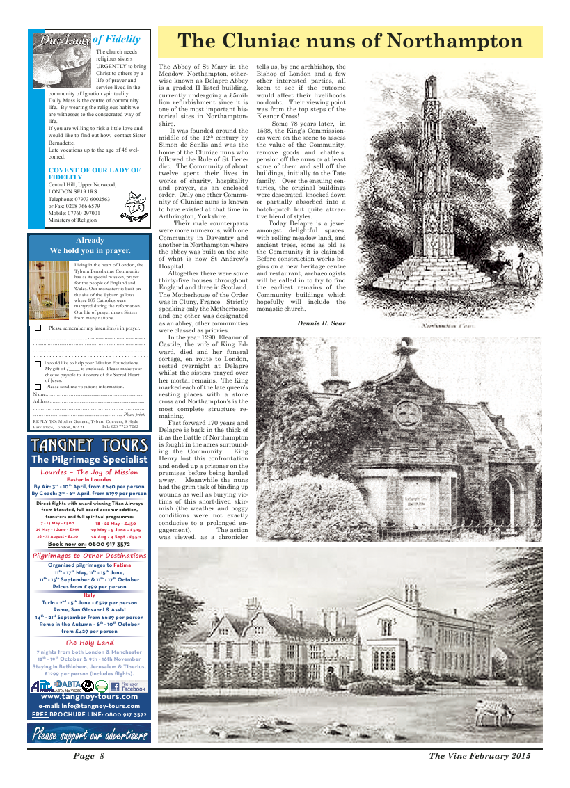 Feb 2015 edition of the The Vine - Northampton