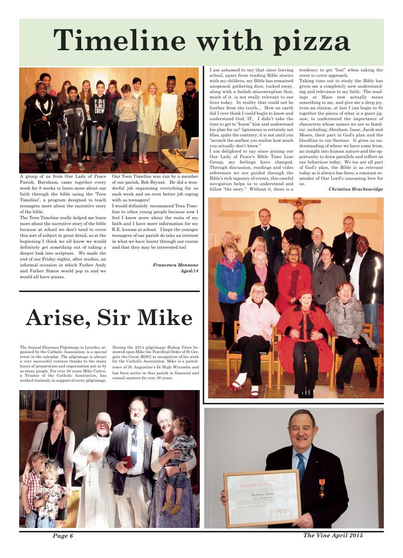 Apr 2015 edition of the The Vine - Northampton