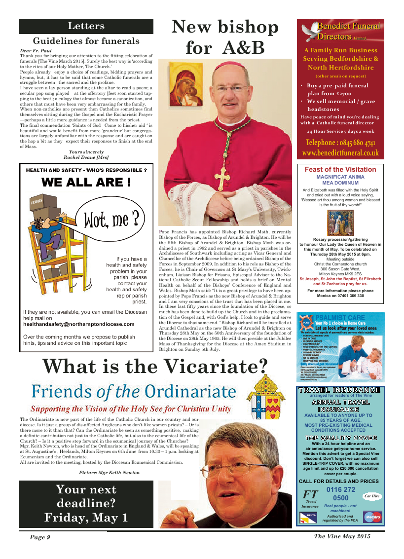 May 2015 edition of the The Vine - Northampton