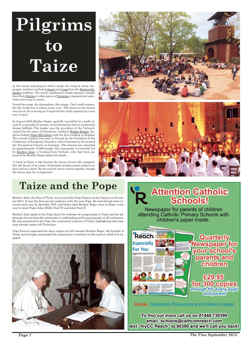 Sept 2015 edition of the The Vine - Northampton