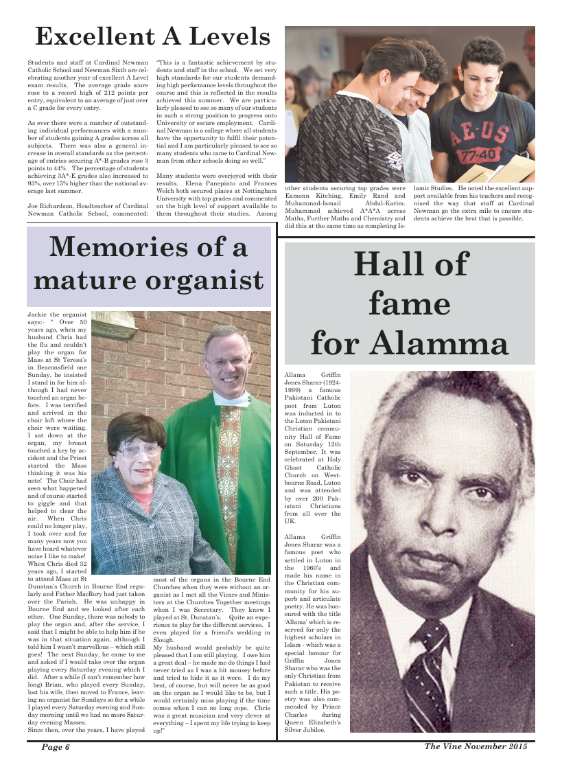 Nov 2015 edition of the The Vine - Northampton
