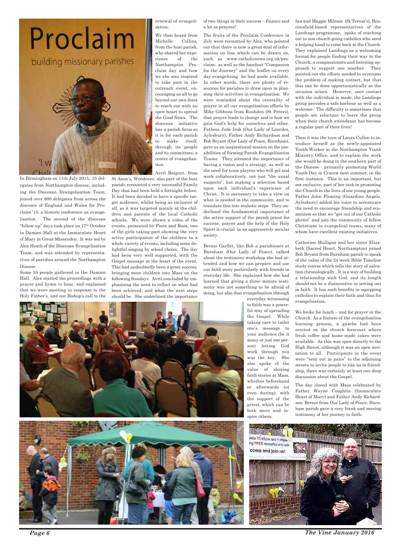 Jan 2016 edition of the The Vine - Northampton - Page